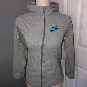 Nike 3/4 Length Sleeve Zip Up Hoodie